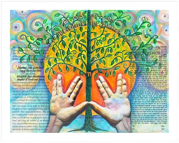 Ketubah by Linda Altshuler,Tree of Life