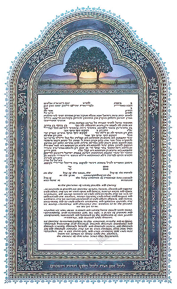 Ketubah by Robert Saslow,Blue Dawn