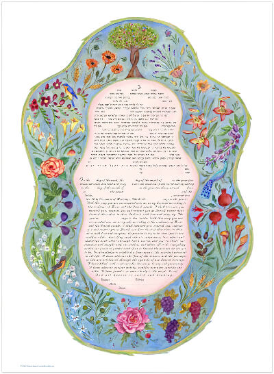 Ketubah by Miriam Karp,7 Species