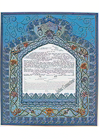 Ketubah by Orly Lauffer,Moroccan Blues