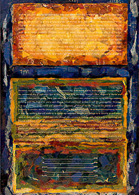 Ketubah by Nishima Kaplan.,Arise My Love