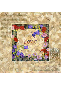Ketubah by Nishima Kaplan.,Bells and Carnations