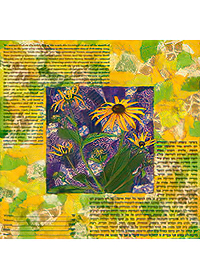 Ketubah by Nishima Kaplan.,Black-eyed Susans Collage