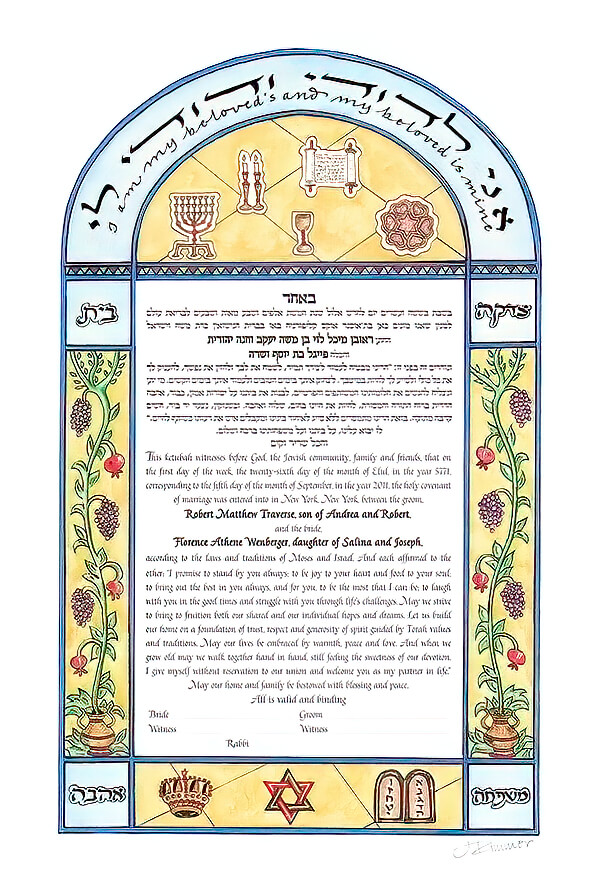 Ketubah by Marion Zimmer,Celebrations