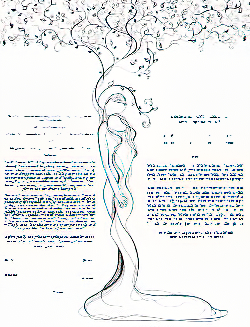 Ketubah by Anna Abramzon,Classic