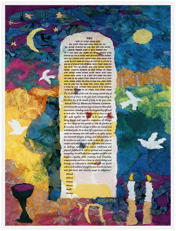 Ketubah by Nishima Kaplan.,Colors of Life