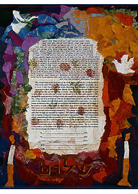 Ketubah by Nishima Kaplan.,Colors of Peace