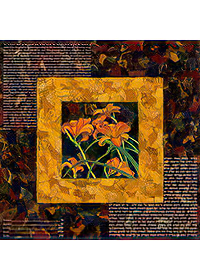 Ketubah by Nishima Kaplan.,Day Lillies Collage