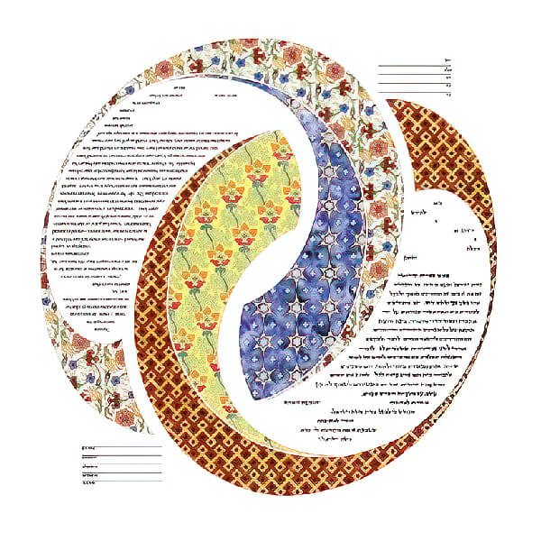 Ketubah by Amy Fagin,Double Ring