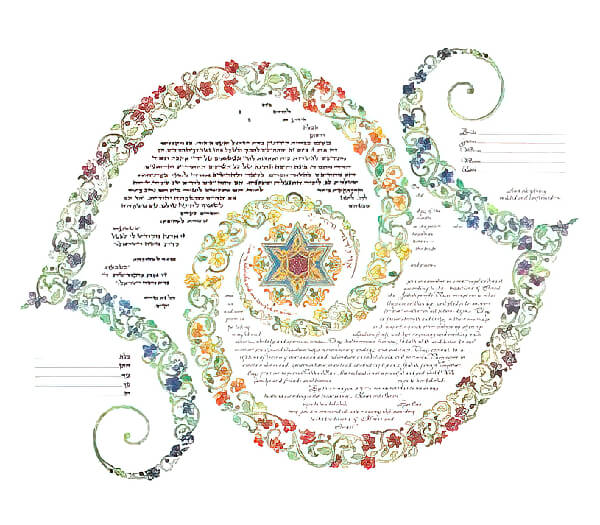 Ketubah by Amy Fagin,Duet of the Beloveds
