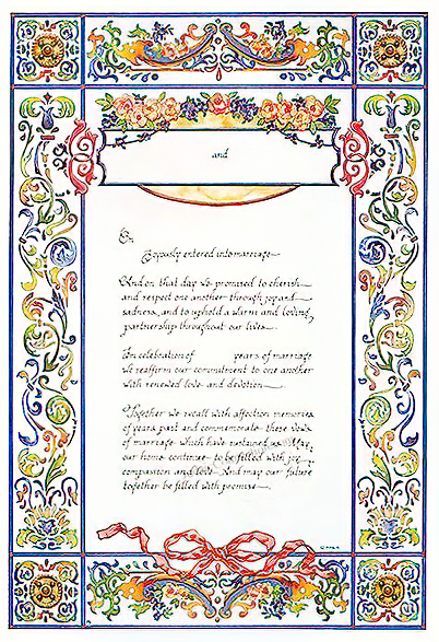 Ketubah by Amy Fagin,Edwardian