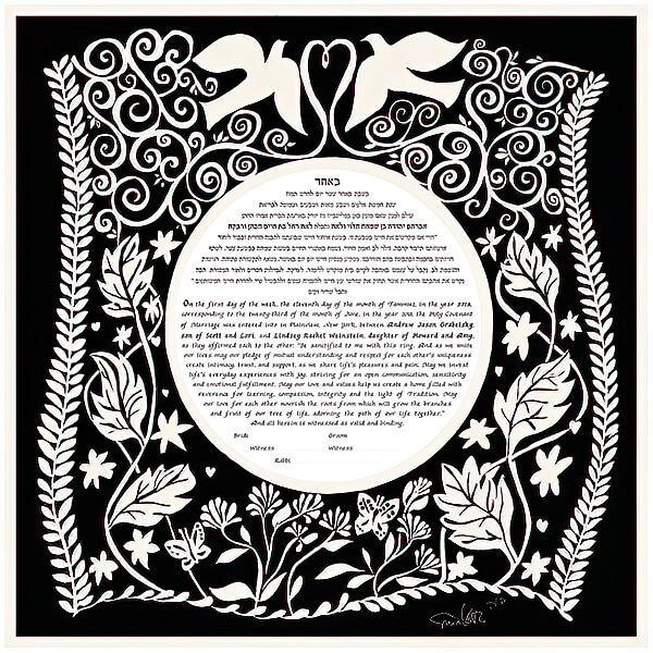 Ketubah by Sivia Katz,Flight
