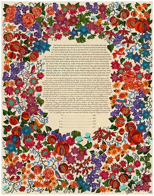 Ketubah by Karla Gudeon,Flower Bed