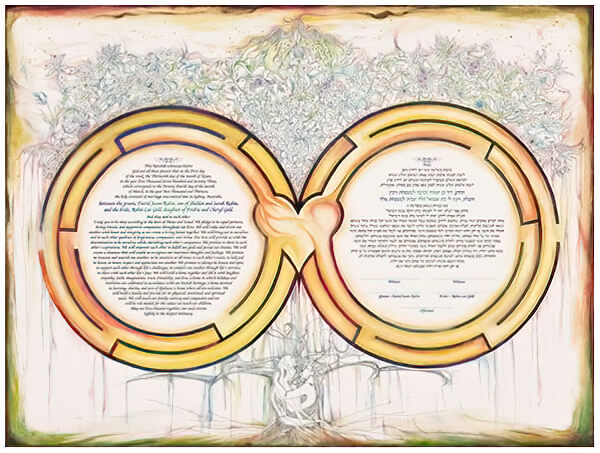 Ketubah by Nava Shoham,Heavenly Labrinth