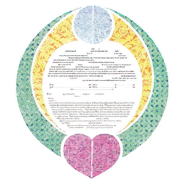 Ketubah by Amy Fagin,Hold Me Close