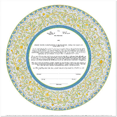 Ketubah by Mickie Caspi,Joy and Happiness