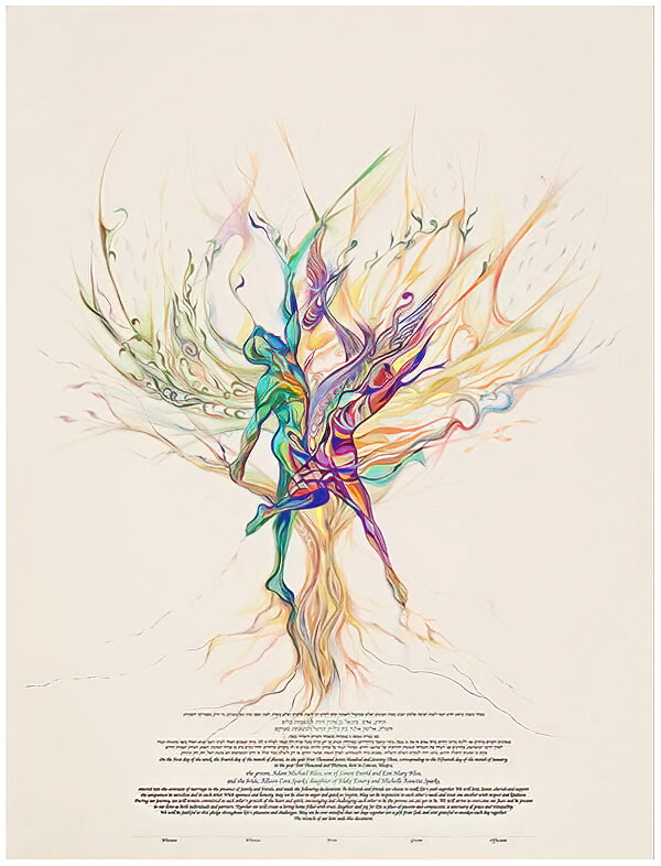 Ketubah by Nava Shoham,Let Us Dance