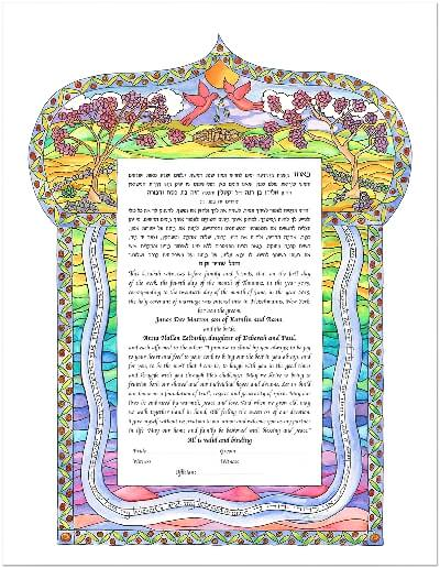 Ketubah by Cindy Michael,Love Birds