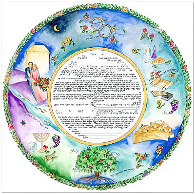 Ketubah by Laya Crust,Lovers