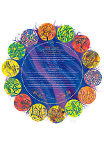 Ketubah by Nava Shoham,Milk & Honey - Blue