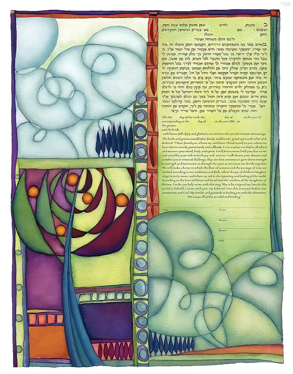 Ketubah by Rachel Deitsch,New Day