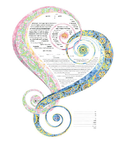 Ketubah by Amy Fagin,One Heart 2