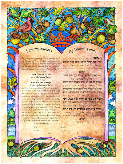 Ketubah by Bonnie Gordon-Lucas,Our Story