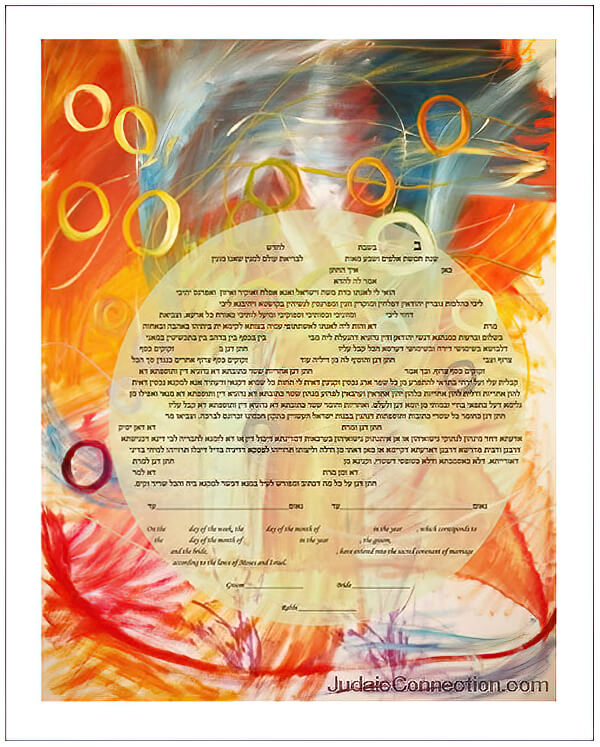 Ketubah by Allyson Block,Rings