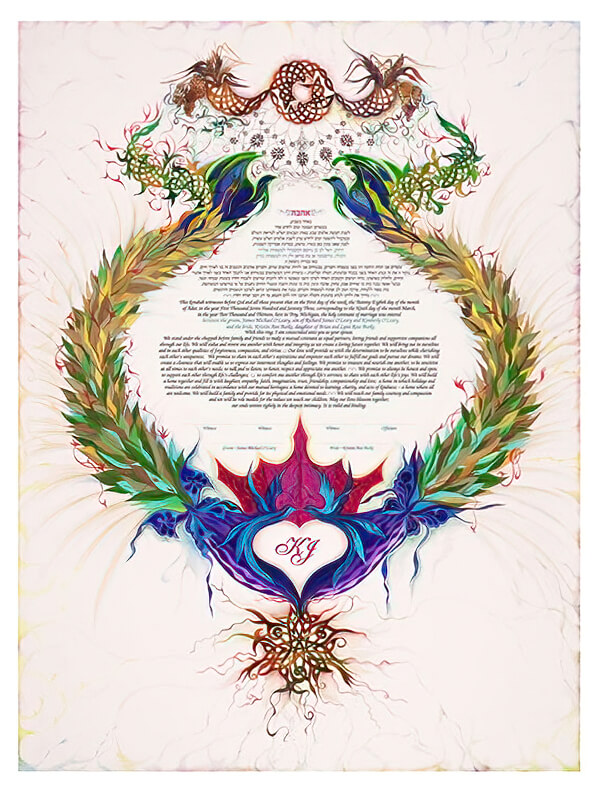 Ketubah by Nava Shoham,Royal Claddagh