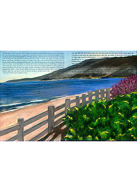Ketubah by Nishima Kaplan.,Santa Monica Overlook