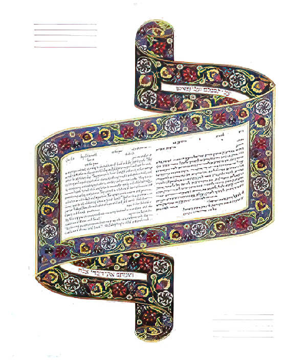 Ketubah by Amy Fagin,Scroll