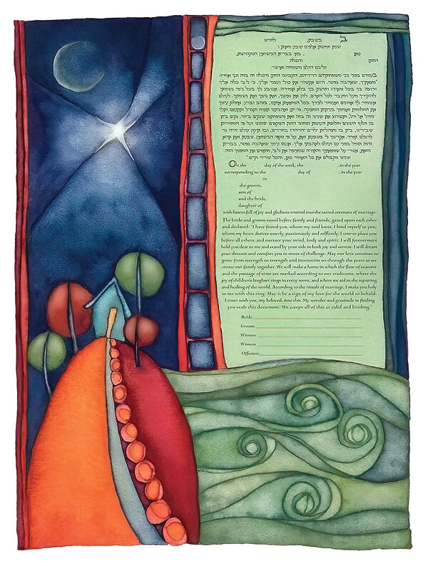 Ketubah by Rachel Deitsch,Seaside