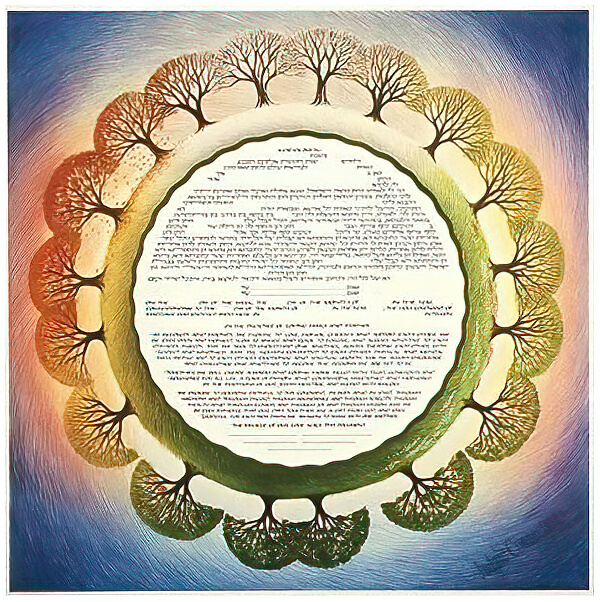 Ketubah by Robert Saslow,Seasons Eternal