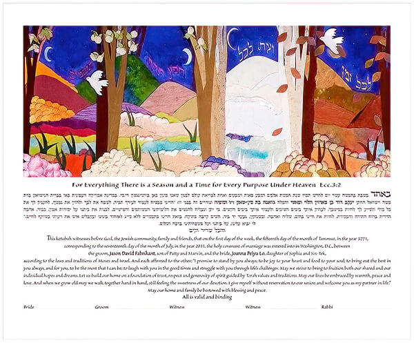 Ketubah by Jackie Olenick,Seasons