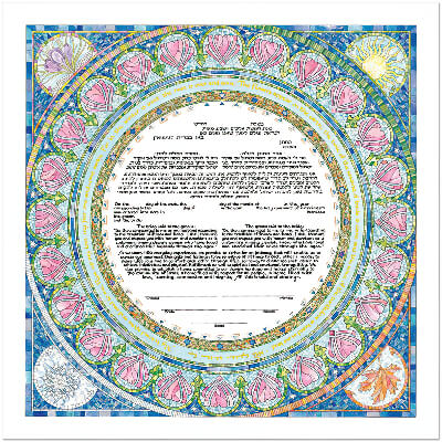 Ketubah by Mickie Caspi,Seasons