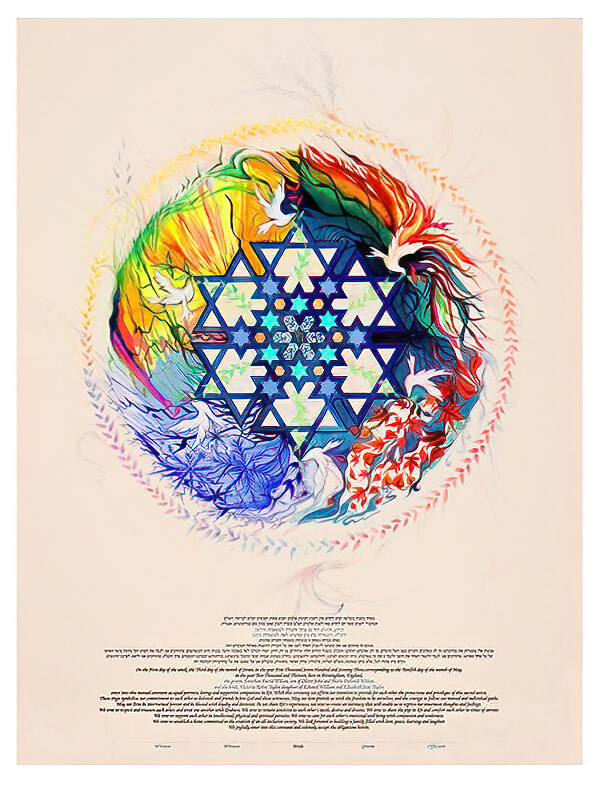 Ketubah by Nava Shoham,Seasons