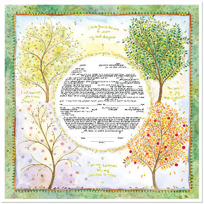 Ketubah by Mickie Caspi,Seasons of Joy
