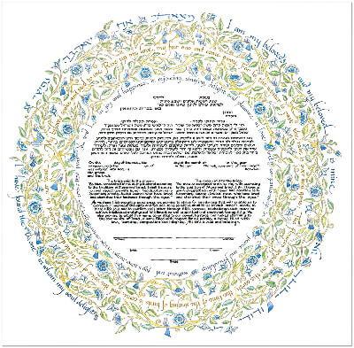 Ketubah by Mickie Caspi,Song of Love