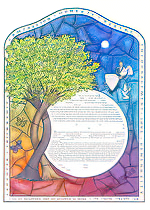 Ketubah by Miriam Karp,Stained Glass Circle