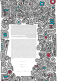 Ketubah by  Tinak,Subway Print 1