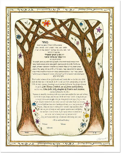 Ketubah by Marion Zimmer,Together Forever