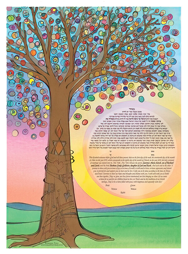 Ketubah by Joanne Fink,Tree of Light