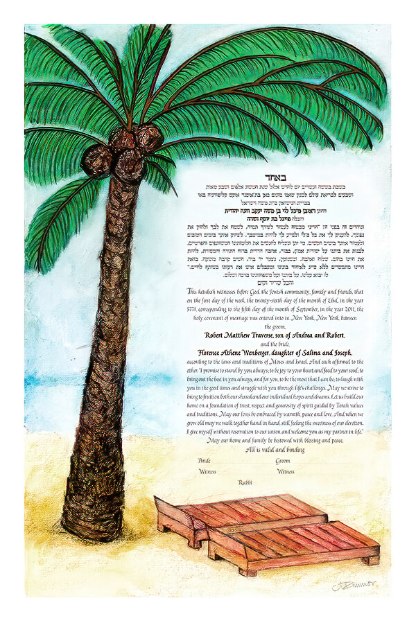 Ketubah by Marion Zimmer,Tropical
